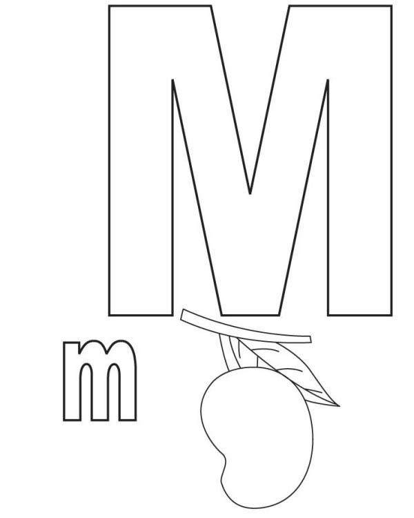 Desenho De Letra M De Manga Para Colorir Tudodesenhos