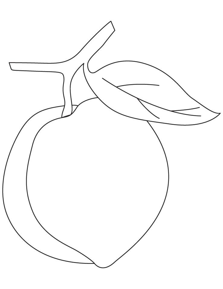 Desenho de P ssego fruta para colorir