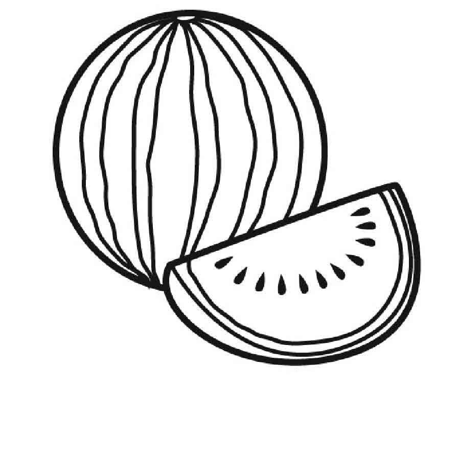 desenho de melancia inteira para colorir tudodesenhos