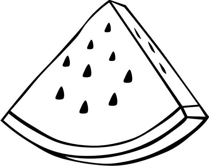 desenho de pedaço de melancia para colorir tudodesenhos