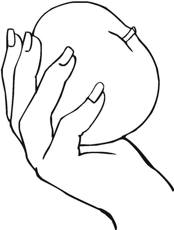 Desenho De M 227 O Segurando Ma 231 227 Para Colorir Tudodesenhos