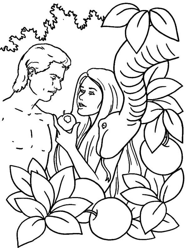Desenho De Macao Fruto Do Pecado Para Colorir Tudodesenhos