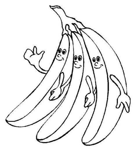 Imagens De Banana Para Colorir E Imprimir