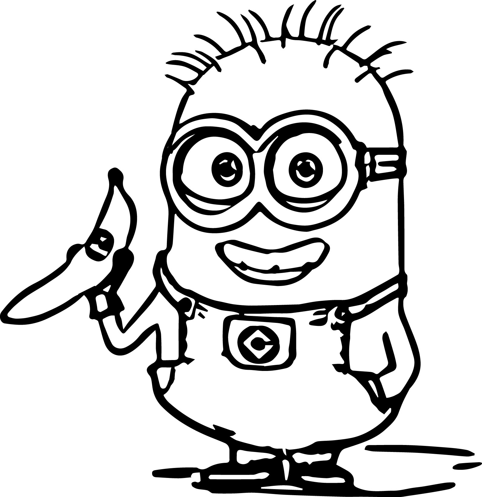 minions coloring pages banana split - photo#17