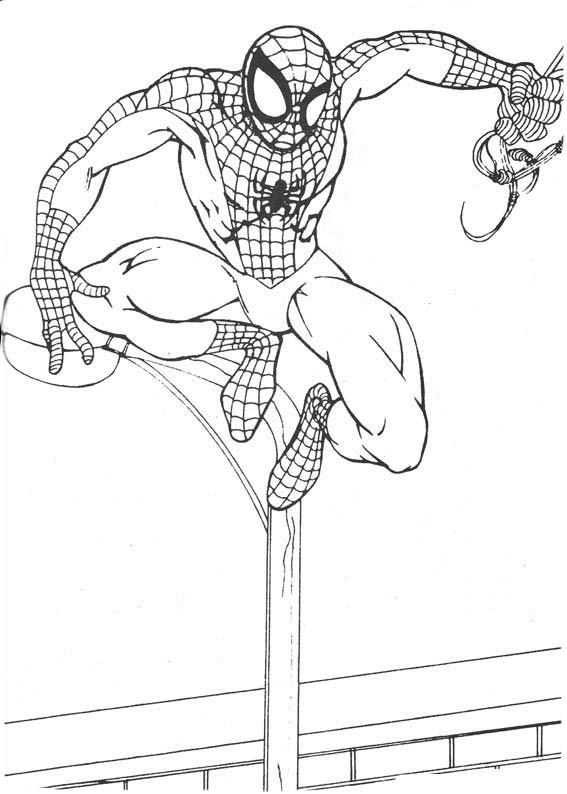 Desenho De Homem Aranha Agachado Para Colorir Tudodesenhos