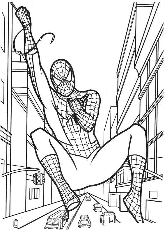 desenho de homem aranha filme para colorir tudodesenhos