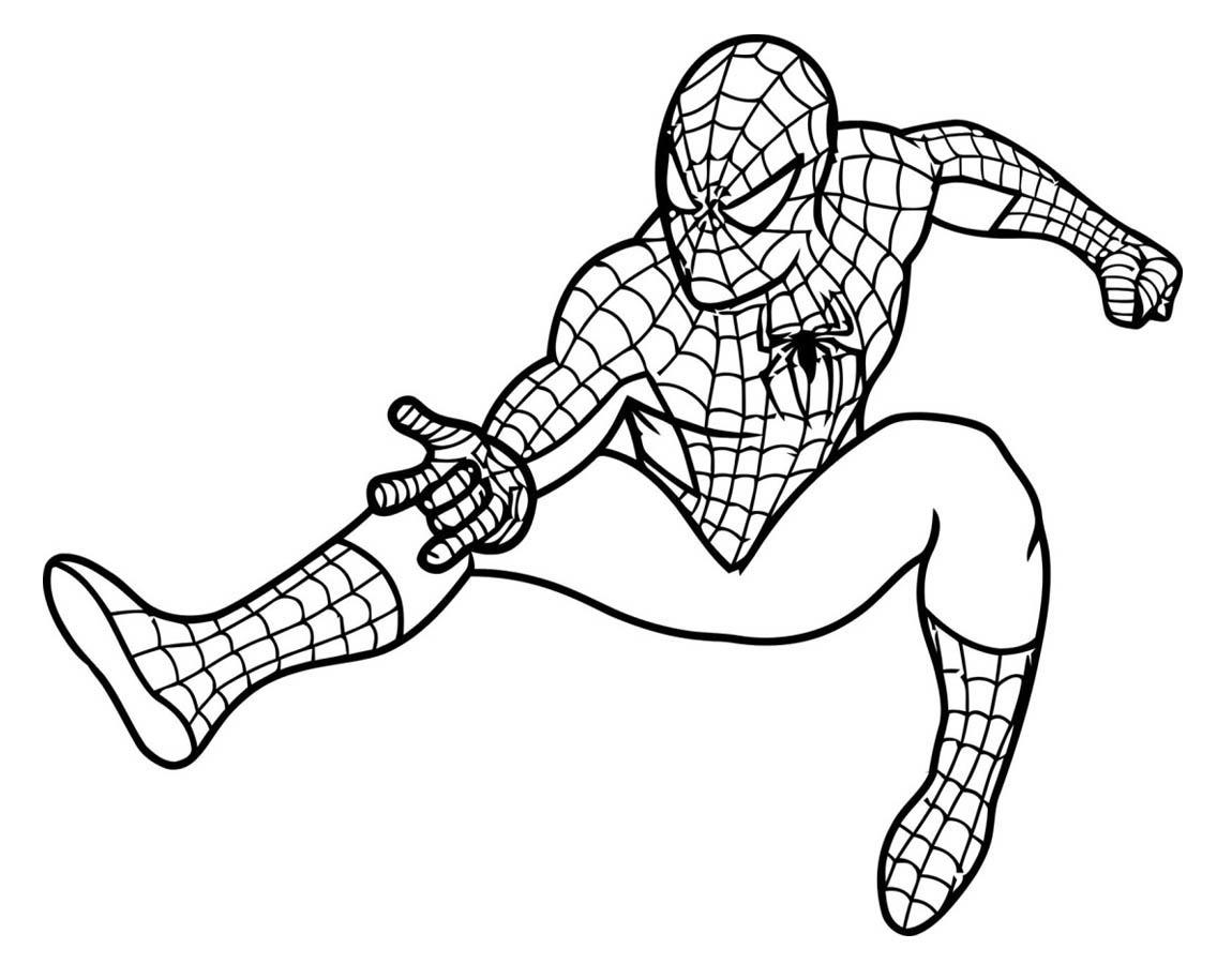 desenho de poderes do homem aranha para colorir tudodesenhos