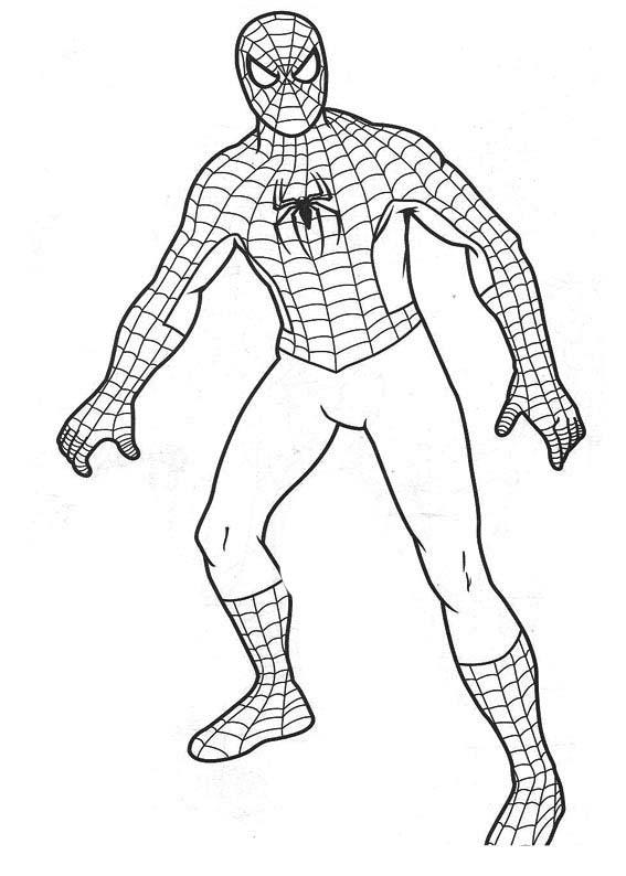 Desenho De Roupa Do Homem Aranha Para Colorir Tudodesenhos