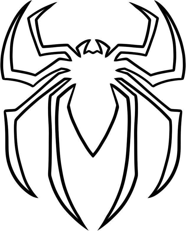 desenho de símbolo do homem aranha para colorir tudodesenhos