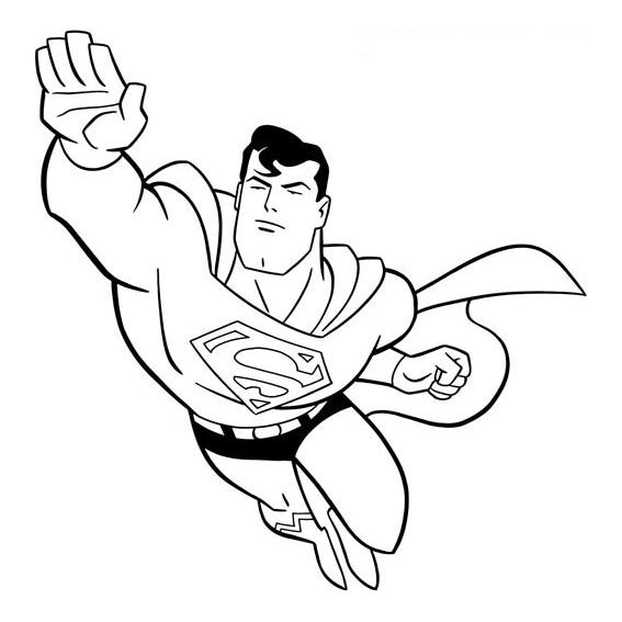 Desenho de superman voando para colorir tudodesenhos - Disegnare le proprie pagine da colorare ...