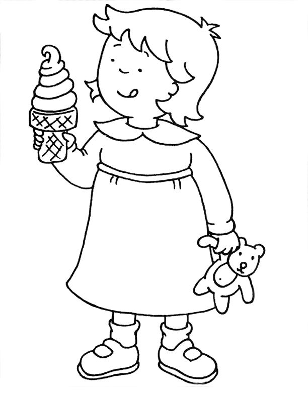 desenho de rosie tomando sorvetes para colorir tudodesenhos