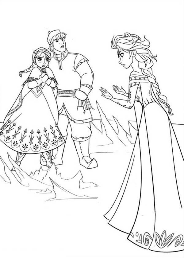 Desenho de Anna Elsa e Kristoff