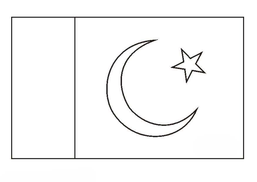 Desenho Da Bandeira Do Paquist 227 O Para Colorir Tudodesenhos