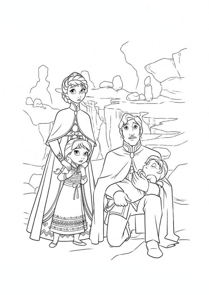 Desenho De Familia Da Elsa E Anna Para Colorir Tudodesenhos