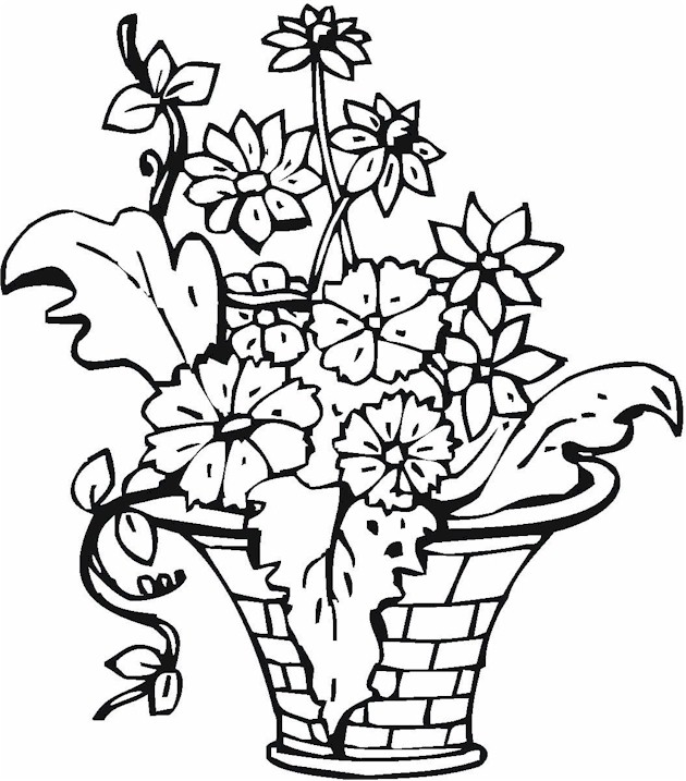 flowers coloring pages pinterest - photo#10