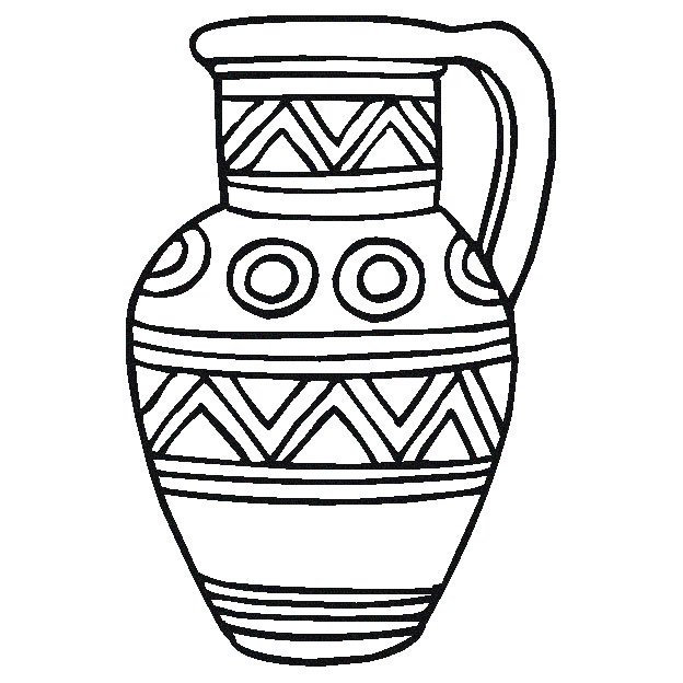 Desenho De Vaso De Barro Para Colorir Tudodesenhos