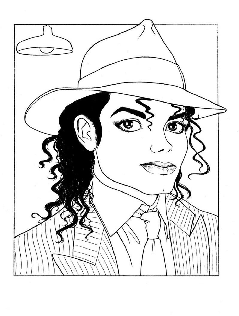 Desenho De Michael Jackson Para Colorir