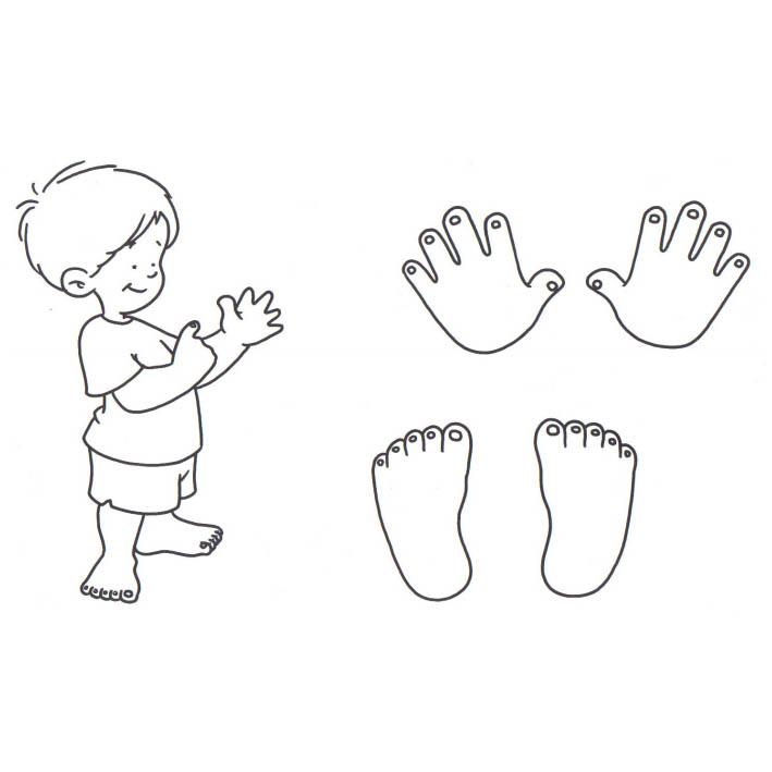Desenho De Mao E Pes De Crianca Para Colorir Tudodesenhos