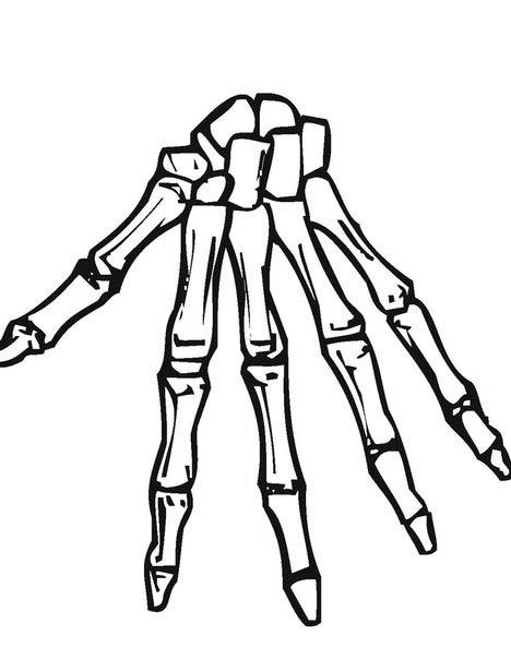 Desenho De Esqueleto Da Mo Para Colorir