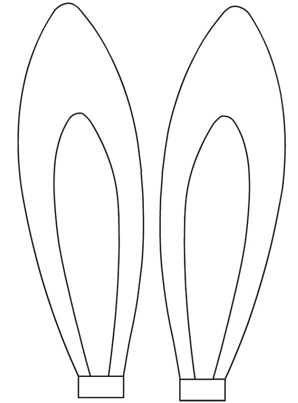 Desenho de orelhas de coelho para colorir tudodesenhos for Bunny ears headband template