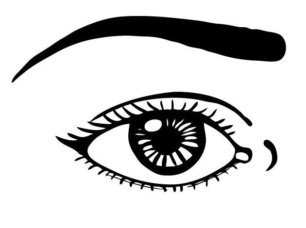 Desenho De Olho E Sombrancelha Para Colorir Tudodesenhos