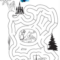 Desenho De Jogo Do Labirinto Elsa Frozen Para Colorir Tudodesenhos