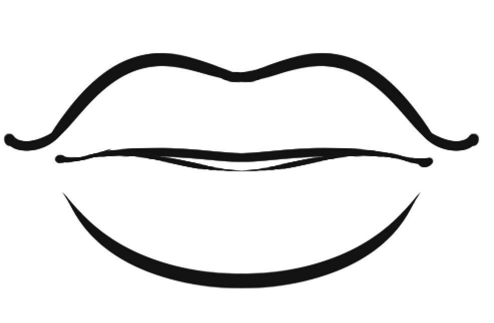 desenho de lábios grandes para colorir tudodesenhos