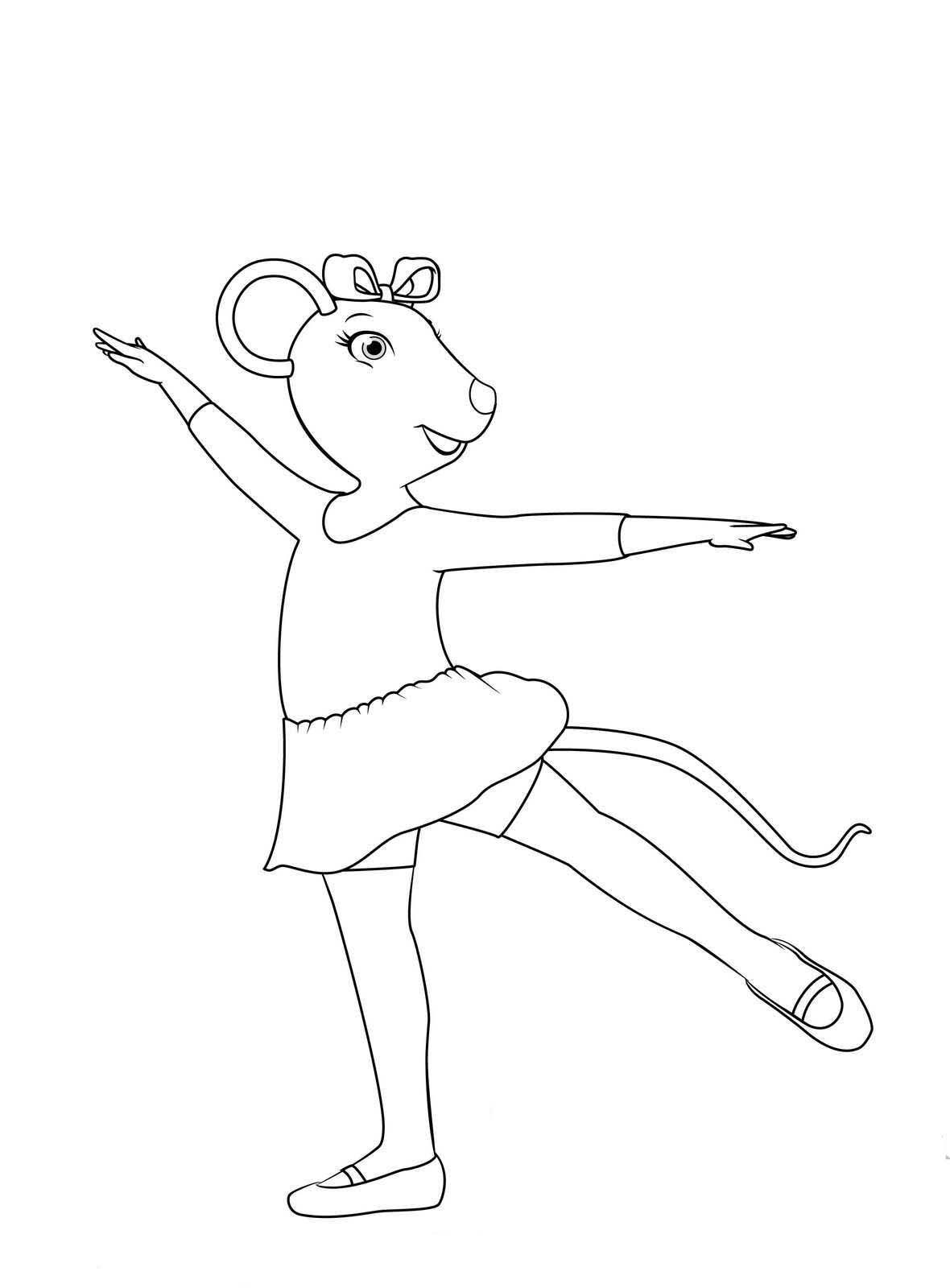 Desenho De Passo De Ballet De Alice De Angelina Ballerina Para