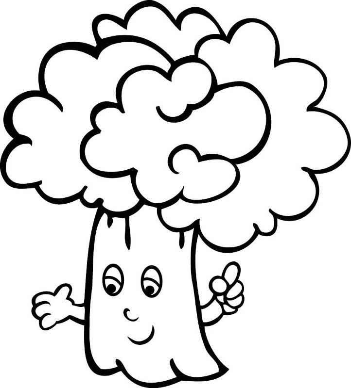 desenho de brócolis divertido para colorir tudodesenhos