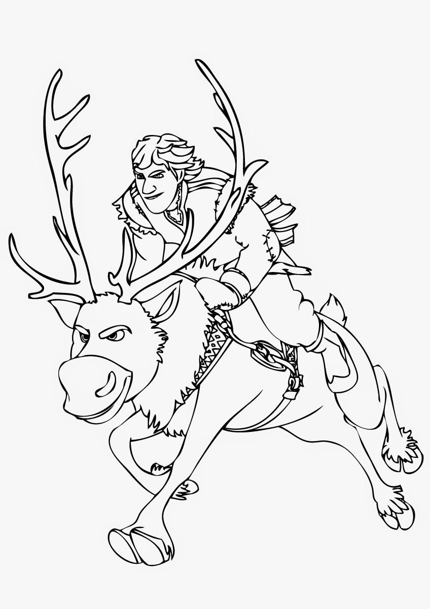 Desenho De Olaf E Sven Buscando Elsa Para Colorir
