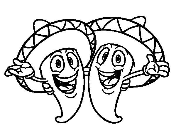 Desenho De Pimenta Mexicana Para Colorir Tudodesenhos