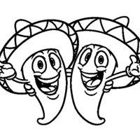 Desenho De Caveira Mexicana Para Colorir Tudodesenhos