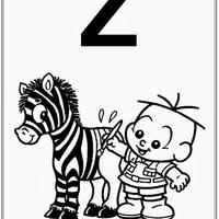 Desenho de Alfabeto da Turma da Monica Letra Z para colorir