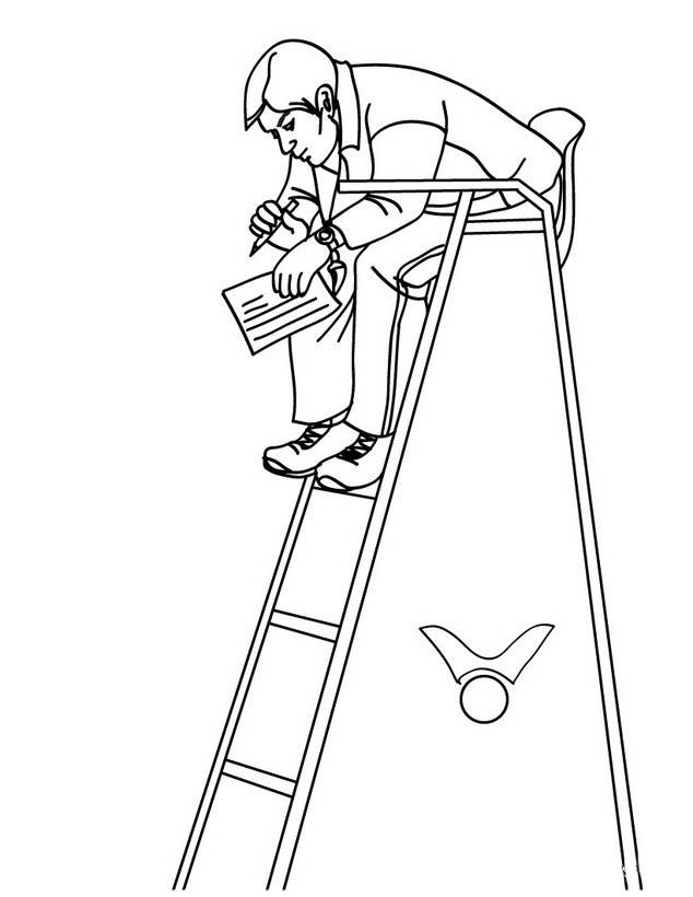 desenho de juiz batendo martelo para colorir tudodesenhos