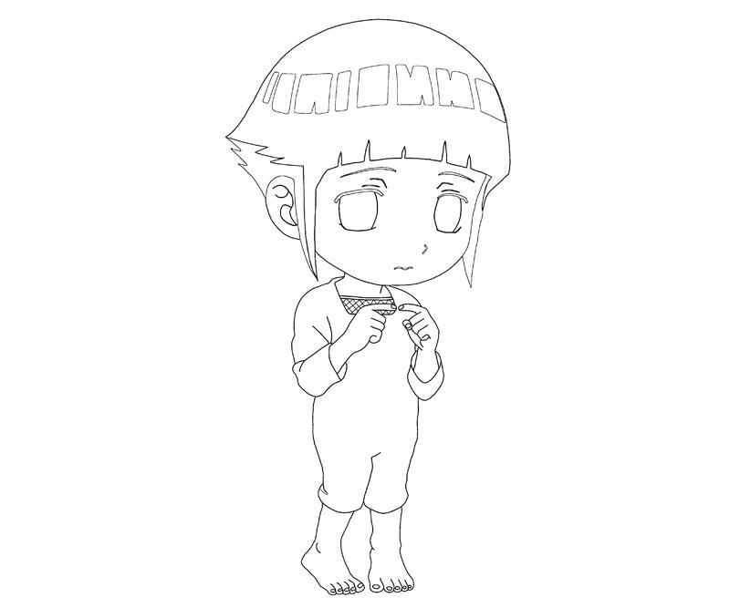 Desenho de Hinata Hyuga chibi para