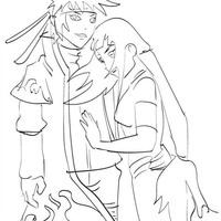 desenho de hinata personagem do naruto para colorir tudodesenhos
