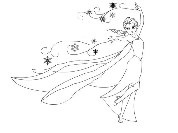 Desenho De Elsa Congelando Tudo Para Colorir