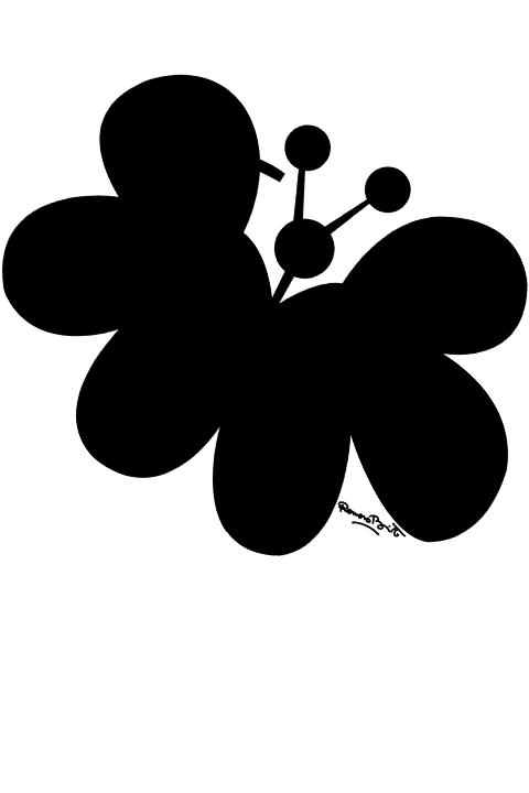 Desenho De Romero Britto Borboleta E Coracao Para Colorir
