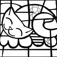 Britto Coloring Coloring Pages