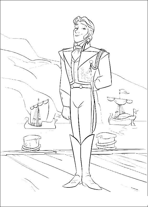 desenho de príncipe hans para colorir tudodesenhos