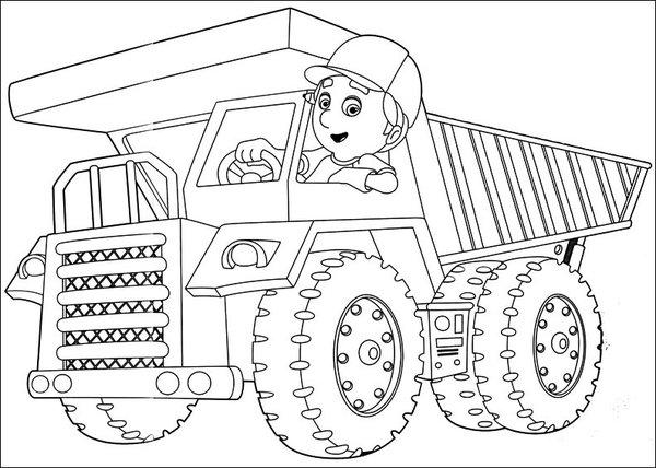 desenho de manny em caminhão de carga para colorir tudodesenhos