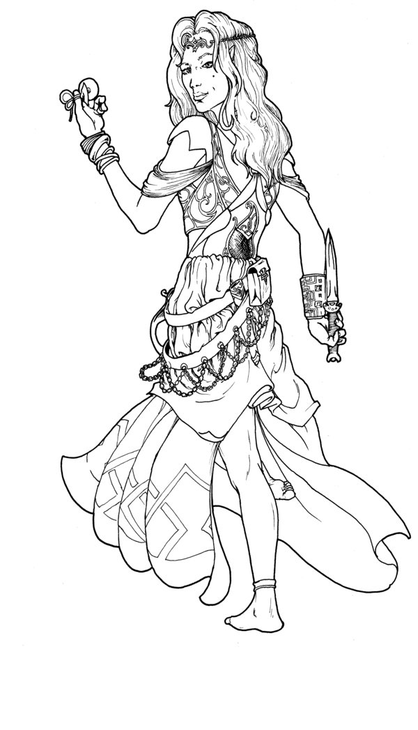 greek dancers coloring pages - photo#38