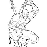 Desenhos De Deadpool Para Colorir Tudodesenhos