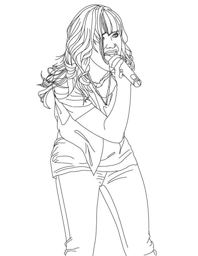 Demi lovato coloring pages to print - a-k-b.info