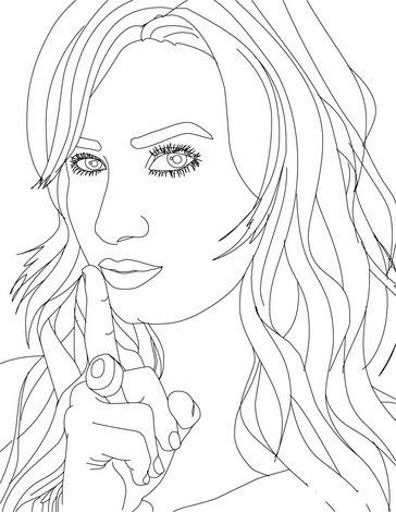 Desenho De Rosto De Demi Lovato Para Colorir Tudodesenhos
