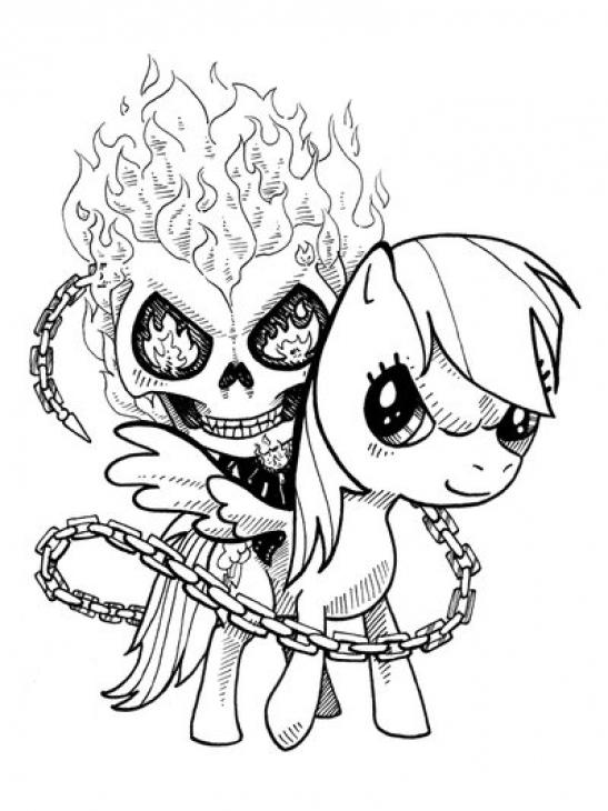 Desenho De Motoqueiro Fantasma E My Little Pony Para