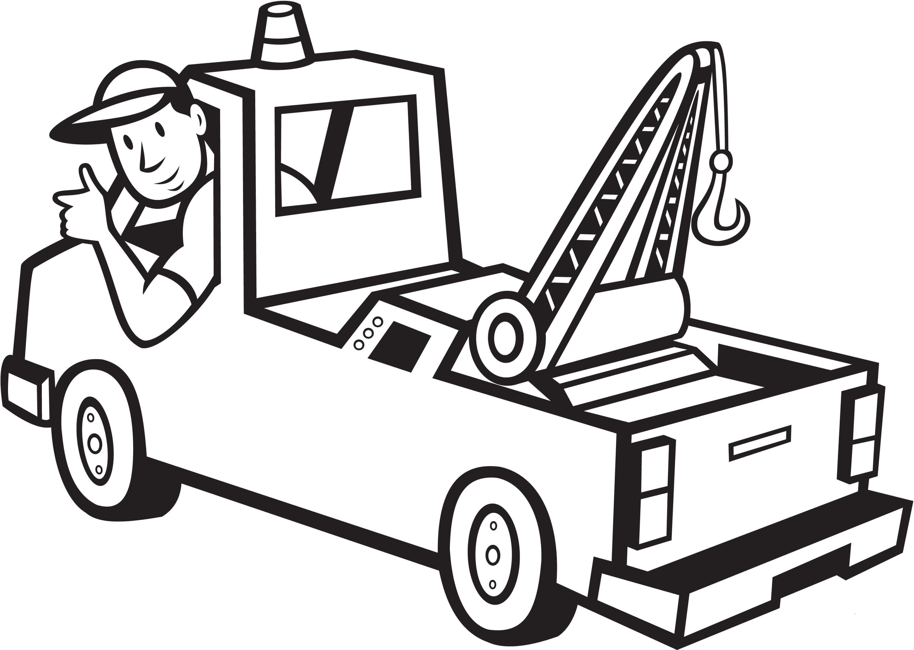 Desenho de Motorista de grua para colorir - Tudodesenhos