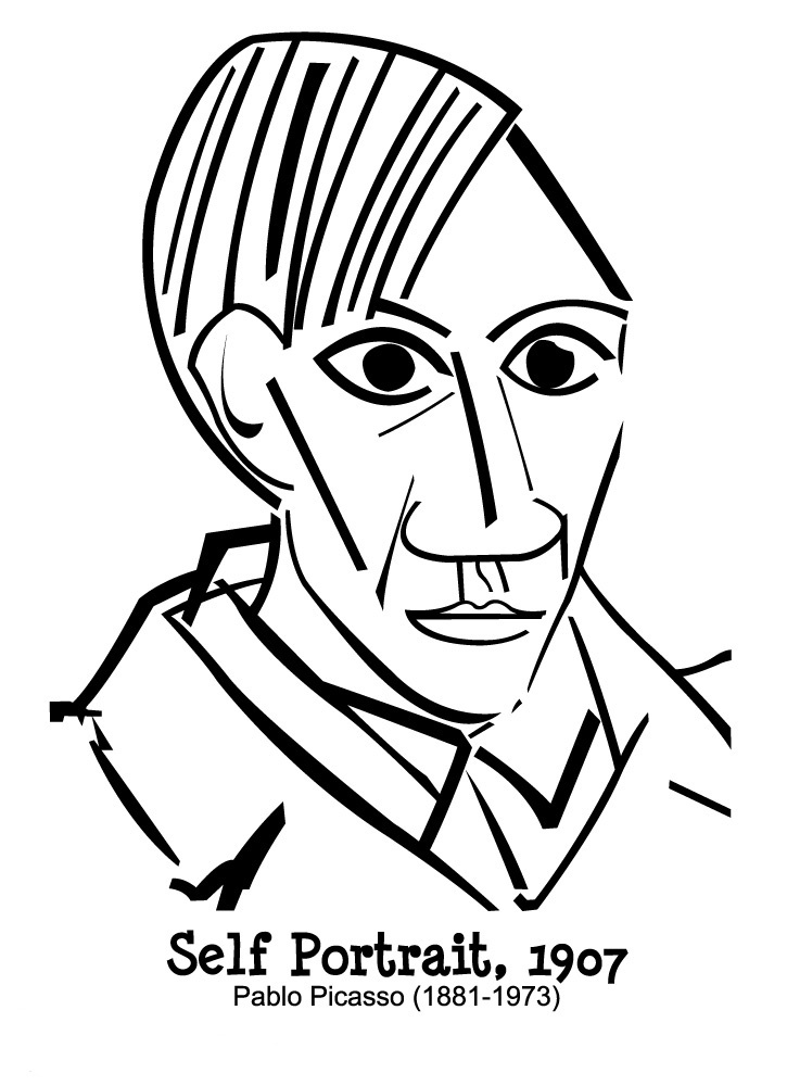 Picasso Coloring Pages For Children