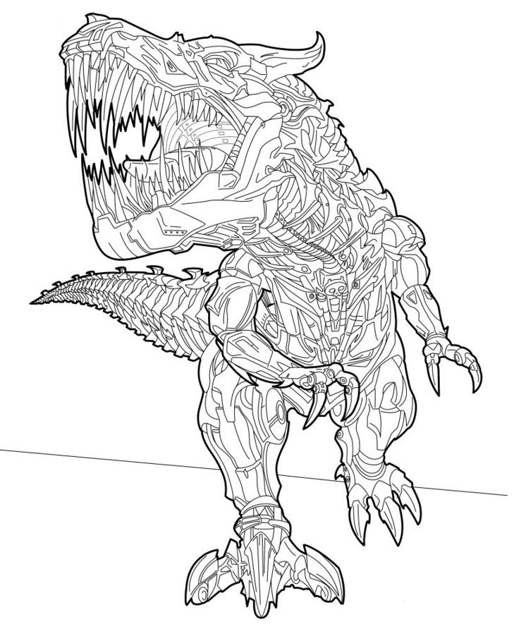 Desenho De Grimlock Transformers Para Colorir Tudodesenhos