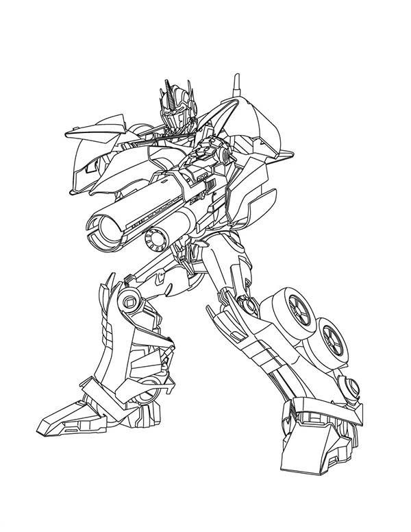 desenho de optimus transformers para colorir tudodesenhos